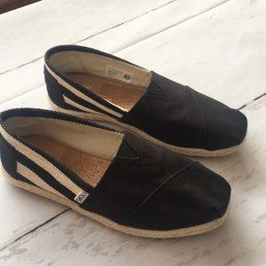 Toms Womens Black Slip On Shoes